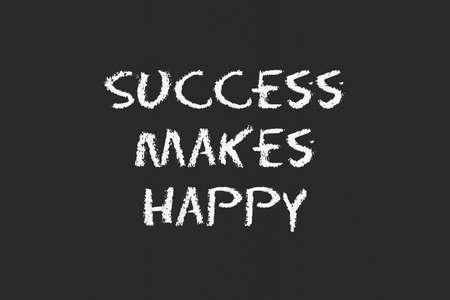 legislating: success to make happy with black blackboard Stock Photo