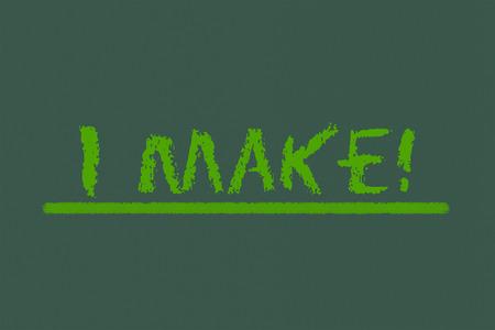 legislating: I make