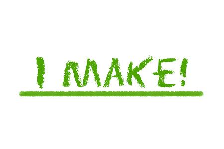 legislating: I make green script on a white background