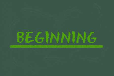 legislating: beginning green script and green underline on a green blackboard Stock Photo