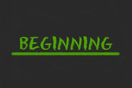 legislating: beginning green script and green underline on a black blackboard