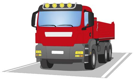 red Construction Truck