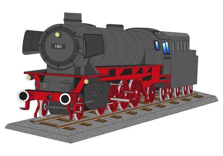 sable: steam locomotive Illustration