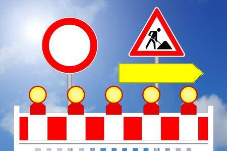 Construction Area, Forbidden Way and alternative Way