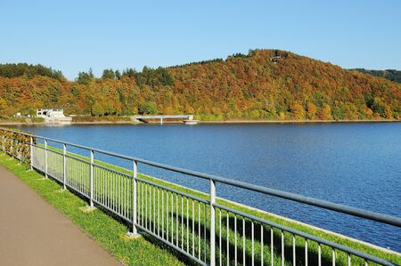 Biggetalsperre in the Fall - on the dam Reklamní fotografie