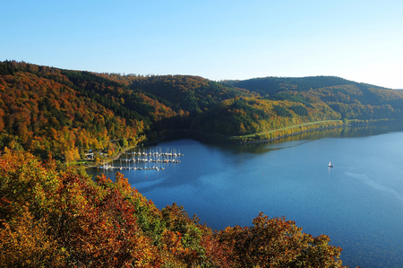 Biggetalsperre in the Fall - Bay of Waldenburg