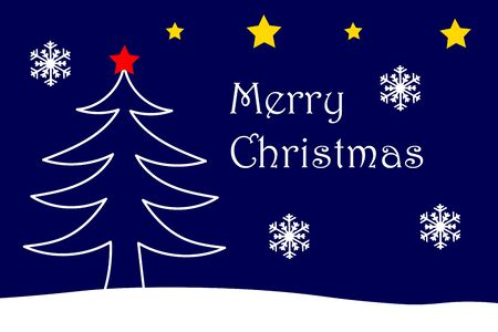 Merry Christmas Card with Christmas Theme