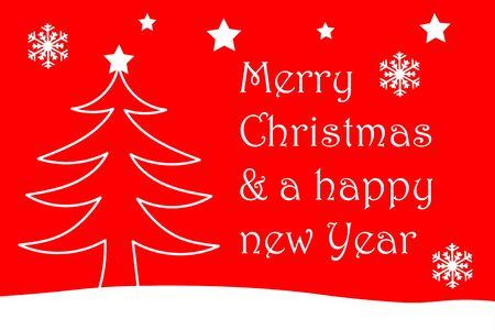 Merry Christmas and a happy new year Banco de Imagens