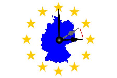 Germany Clock Change Banco de Imagens