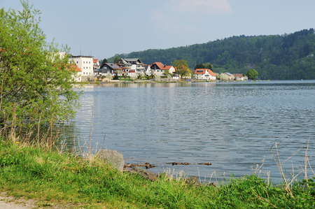 Edersee waterside at Herzhausen with full filling