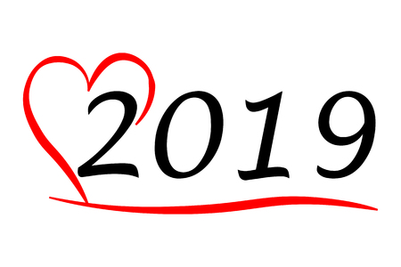 hearty year 2019 写真素材