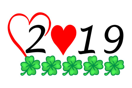 Year 2019 with Luck and Heart