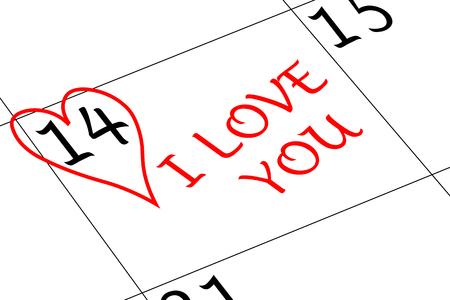 Valentine`s Day Heart I love You Banco de Imagens
