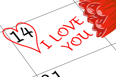 Valentine`s Day I love You with Flowers