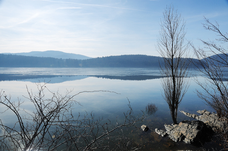 Edersee near Berich in Winter time at full filling