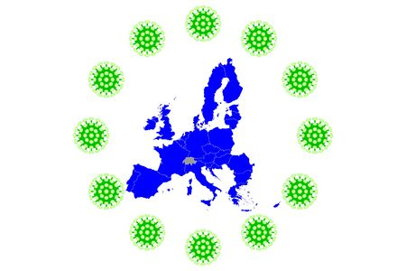 COVID-19 Virus European Flag pandemic