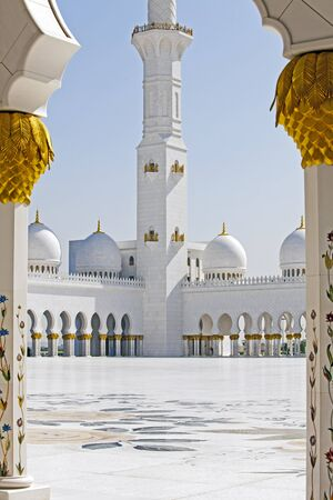 denominational: Abu Dhabi Sheik Zayed Mosque Stock Photo