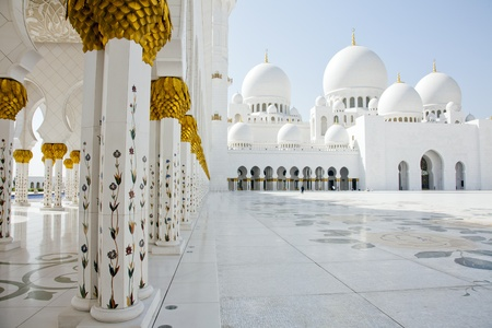 Abu Dhabi Sheik Zayed Mosque Stock Photo