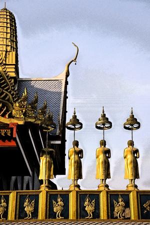 Fresko Kloster in Thailand
