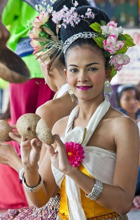 Folkloreveranstaltung am 04.02.2011 in Pattay Thailand Editorial