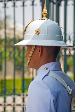 Palace Guards King house Bangkok Thailand