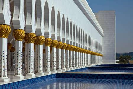 sheik: Sheik Zayed Moschee Abu Dhabi