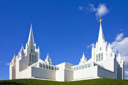 mormon temple: Church of Jesus Christ of Latter-day Saints San Diego Kalifornien Stock Photo