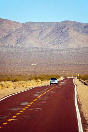 Road bay Mojave National Preserve California photo
