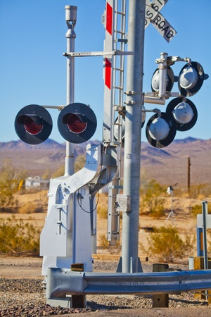 creosote: Railway in Kelso USA Stock Photo