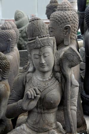 buddhismus: Statuen auf Bali Stock Photo