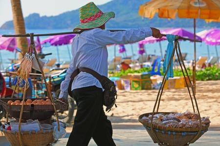 egg trading in Phuket Thailand  版權商用圖片