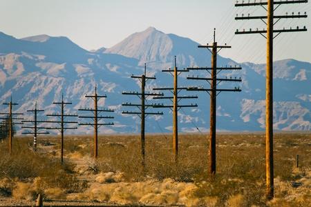 Power line in the desert