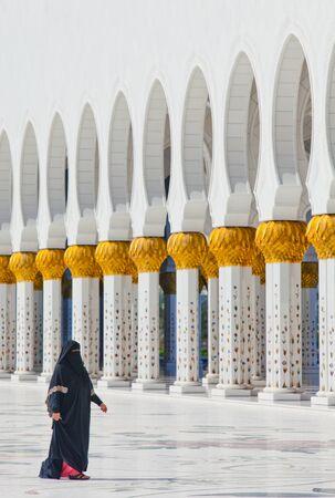 sheik: Sheik Zayed Mosque Abu Dhabi on 30.01.2011 Editorial
