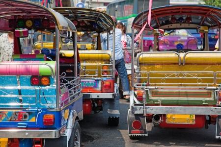 migrant: Rush Hour in Bangkok Thailand