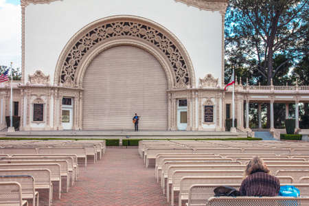 Lonely Artist in Balboa Park San Diego