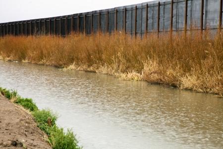 El Paso border with Mexico on the Rio Grande