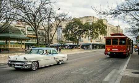 Vintage car in San Antonio Texas