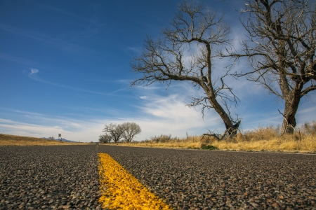 Interstate 10 West  in Texas Stock Photo