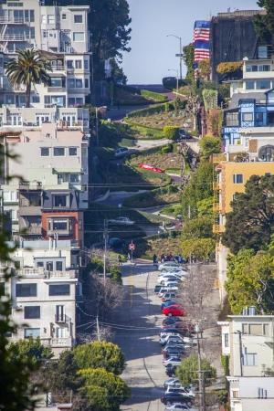 Lombard Street in San Francisco photo