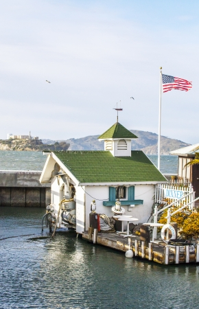 Sanfrancisco view of Alcatraz from Pier 39 photo