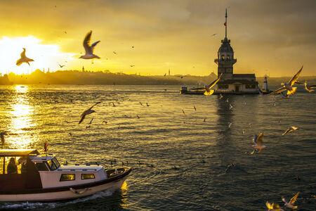 s horn: Istanbul Leander Tower Turkey