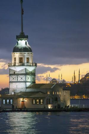 Istanbul Maiden Tower Turkey Stock Photo