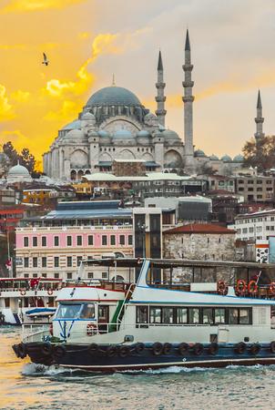 Pier on the Bosphorus in Istanbul, Turkey
