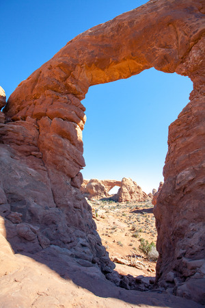 arches national park: Arches National Park in Utah Stock Photo