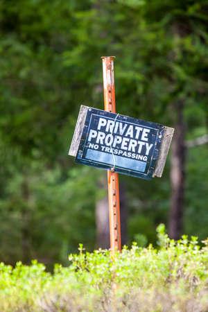 private property: Private property