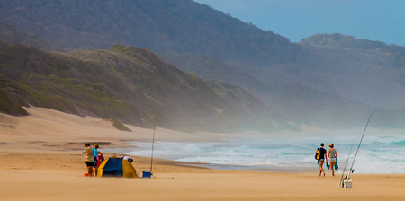 Beach at iSimangaliso Wetland Park South Africa Stock Photo