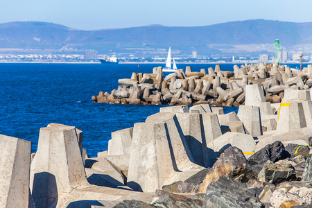 At the waterfront in Cape Town South Africa Stock Photo