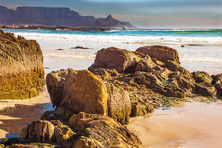 Bloubergstrand with a view of the Table Mountain and Cape Town