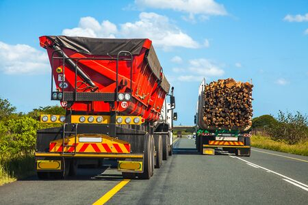 Truck in South Africa Stock Photo