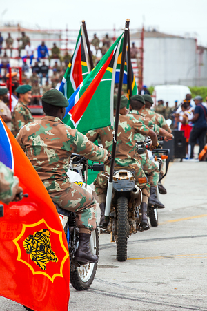 Military parade in Port Elizabeth South Africa
